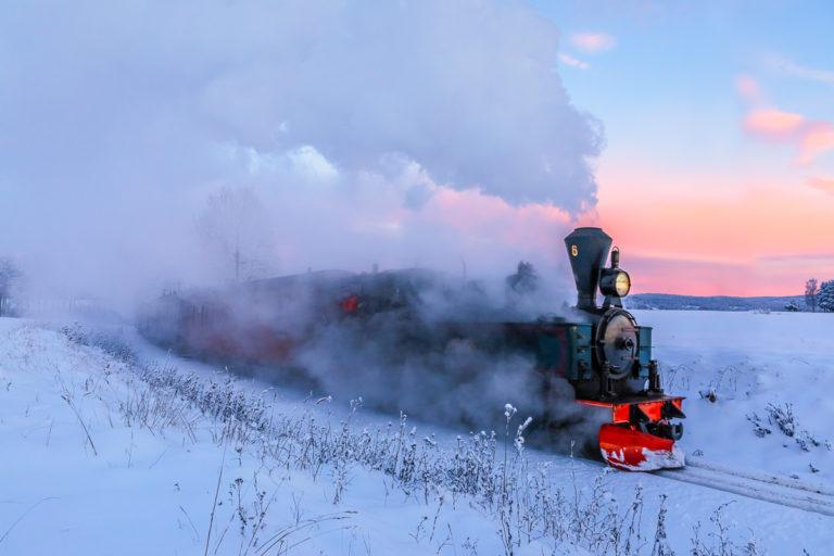 Tertitten - tog i frostrøyk