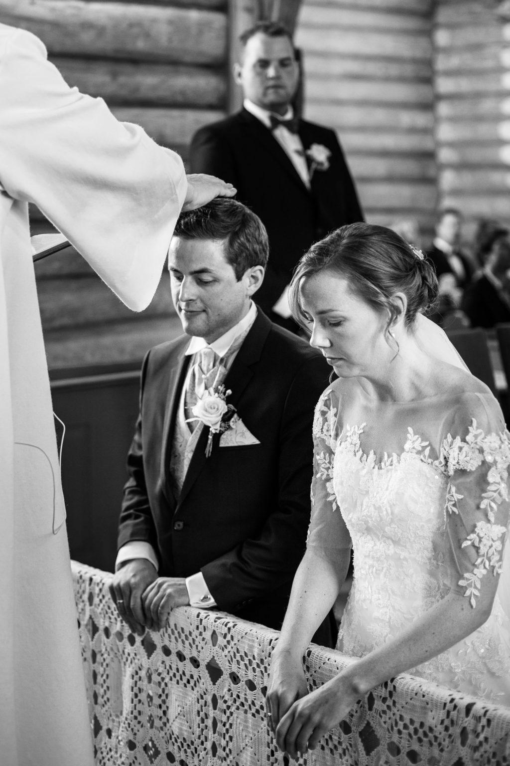 Velsignelse av brudeparet