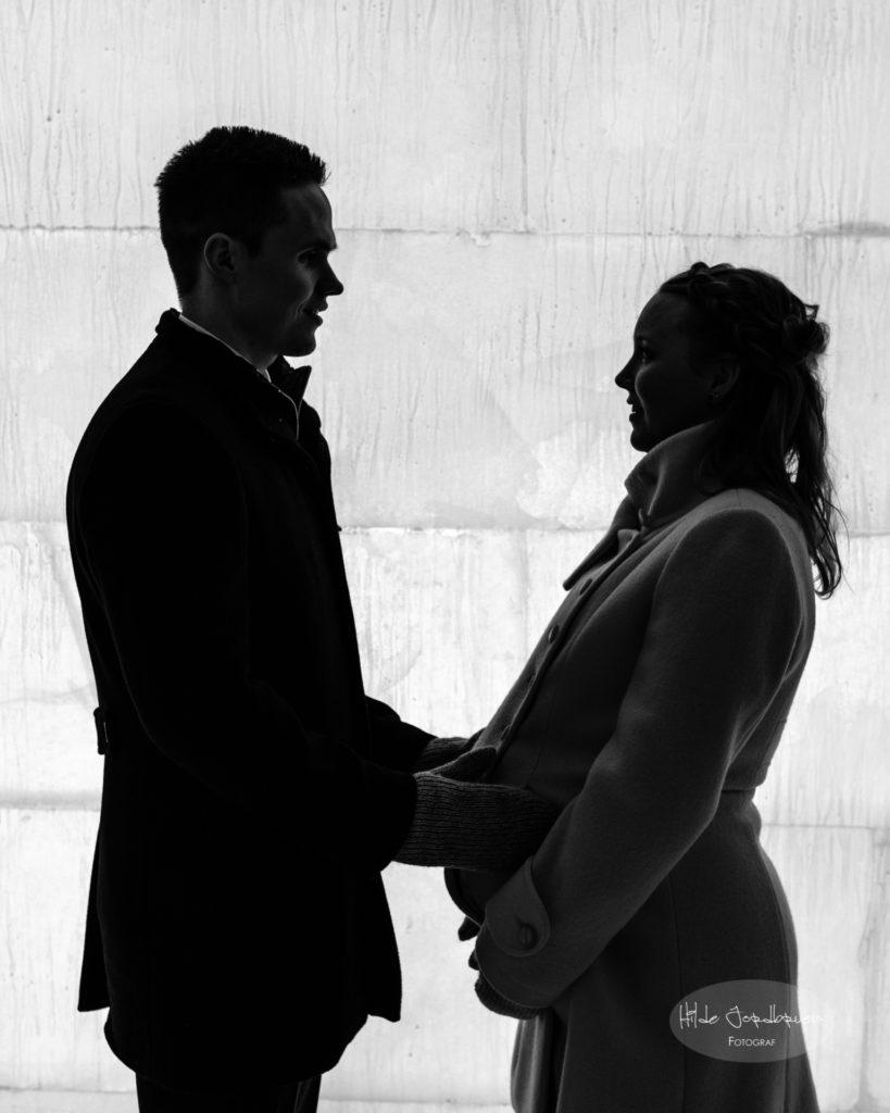 Når bruden er i lykkelige omstendigheter