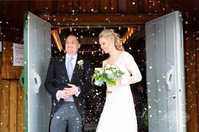 Regn i brudesløret betyr hell sies det - det samme gjelder nok for snø!