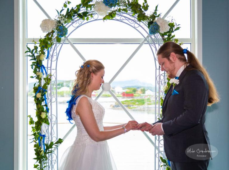 Blomsterportal og nydelig utsikt