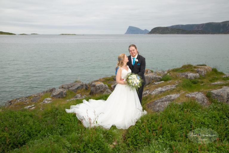 Augusta og Anders ønsket grønt og vann på sine bryllupsbilder