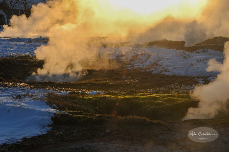 På Island oser det svovel ut av bakken