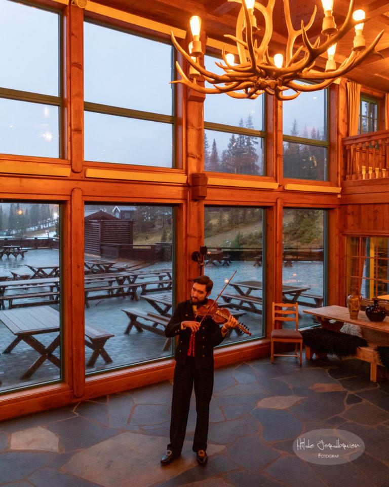 Lobbyen kan brukes til samling og dans