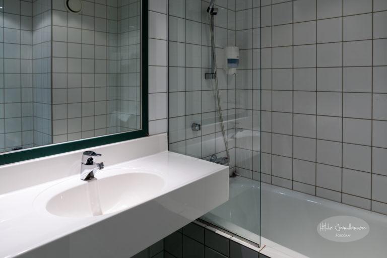 Badene er også litt forskjellige - noen har badekar