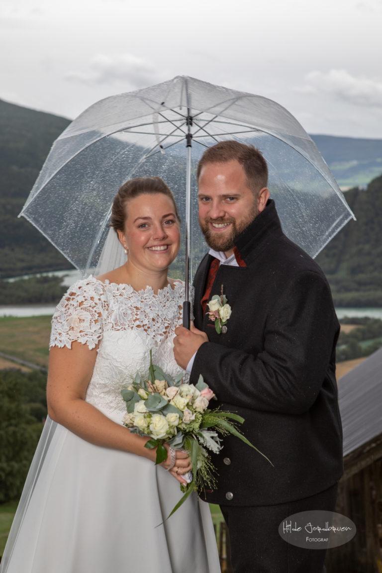 Særdeles godt valg å ha med paraplyer!